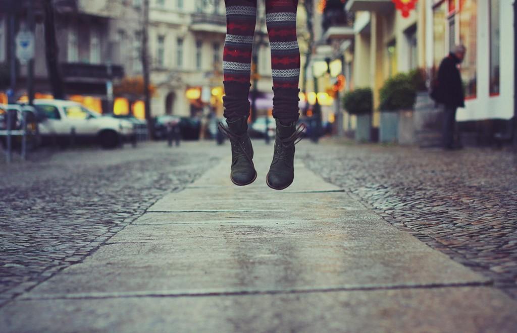 Feet jumping in Berlin by Noukka Signe