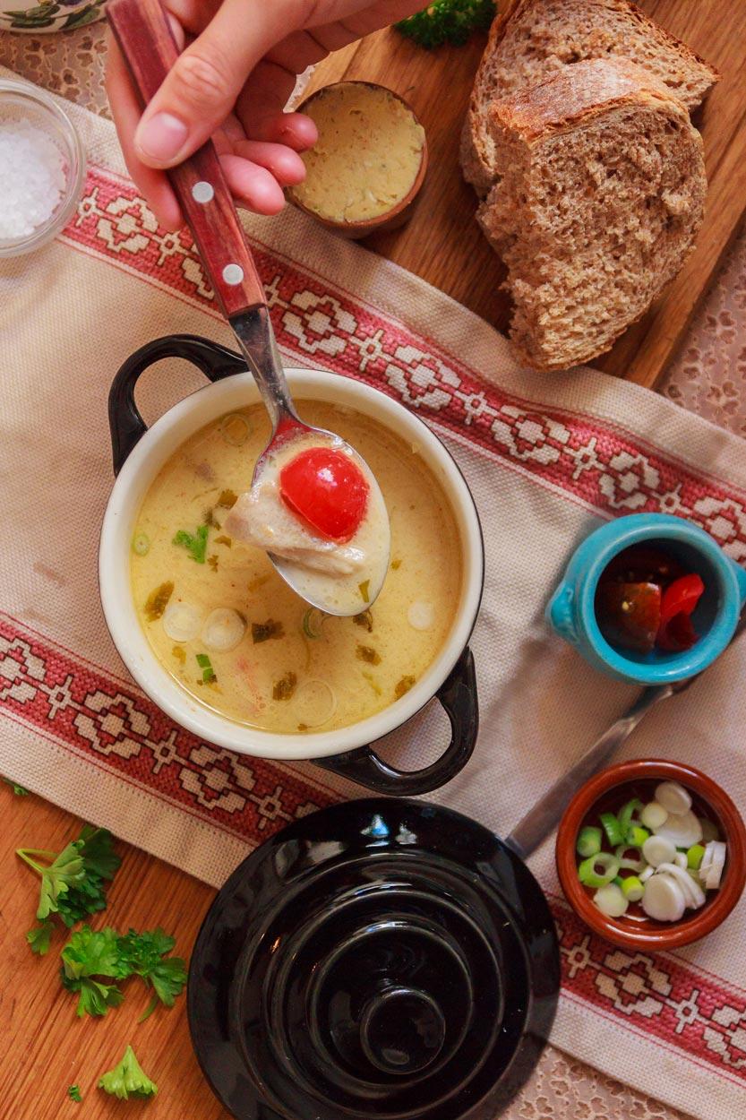 Vegetarian Tom Kha Kai Soup