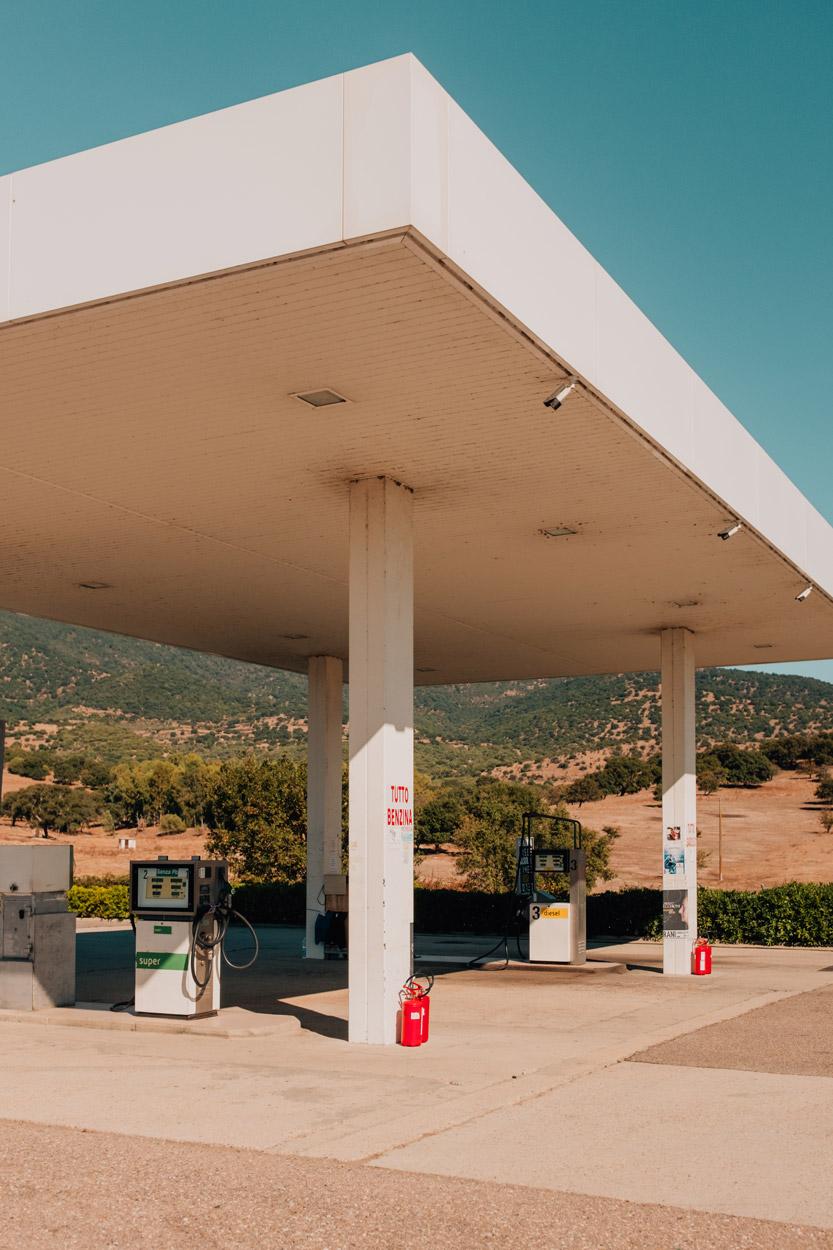 Gas station in Sardinia