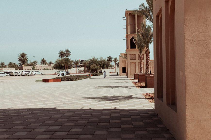 Quiet square in Dubai